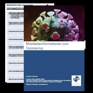 Aushang: Mitarbeiterinformation zum Coronavirus