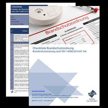 Checkliste - Brandschutzordnung nach DIN 14096 Teil A