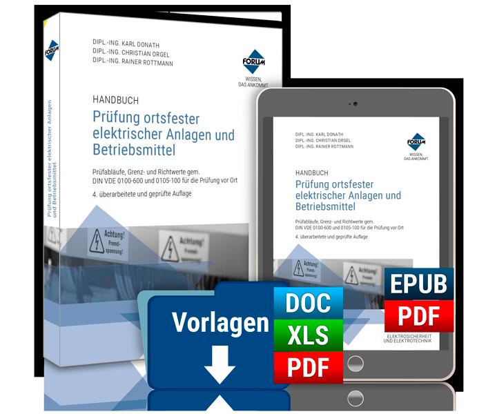 vorschau handbuch prfung ortsfester elektrischer anlagen und betriebsmittel - Prufung Elektrischer Anlagen Prufprotokoll Muster