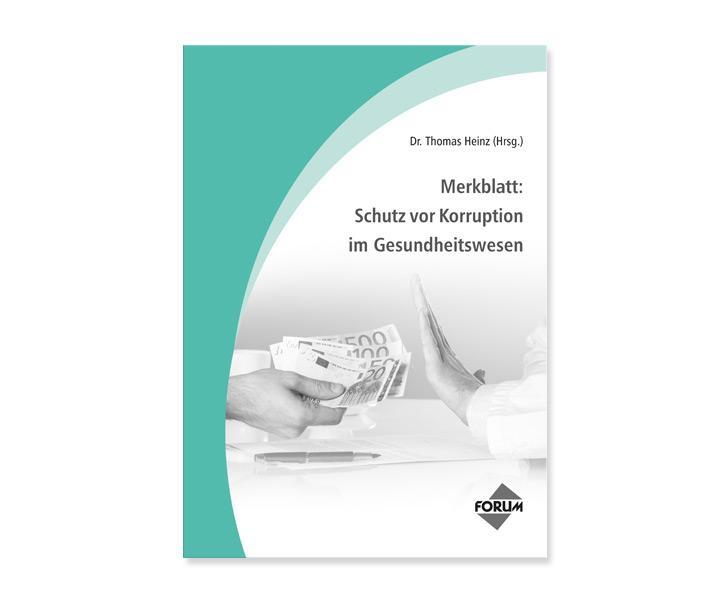 Merkblatt: Schutz vor Korruption im Gesundheitswesen