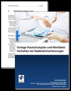 Vorlage Hautschutzplan und Fachartikel über Nadelstichverletzungen