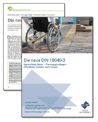 Die neue DIN 18040-3: das sind die wichtigsten Neuerungen