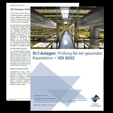 Fachartikel zum Thema RLT-Anlagen (VDI 6022)