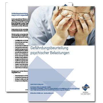 Gefährdungsbeurteilung von psychischen Belastungen