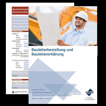 Vorlage: Bauleiterbestellung und Bauleitererklärung