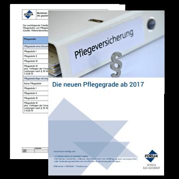 Merkblätter zu den neuen Pflegegraden ab 2017