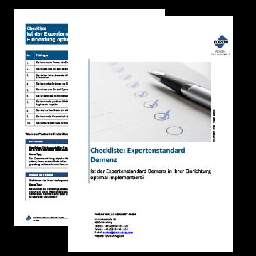 Checkliste Expertenstandard Demenz