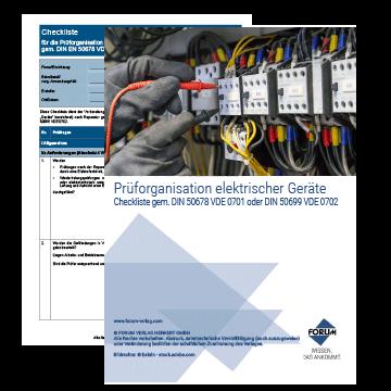 Checkliste Prüfung elektrischer Geräte