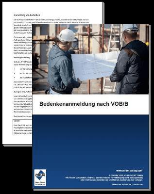 Fachartikel über die Bedenkenanmeldung, Gewährleistung und Mängelansprüche gemäß VOB/B