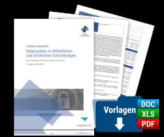Formularmappe Datenschutz in öffentlichen und kirchlichen Einrichtungen