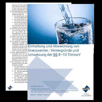 Einhaltung und Abweichung von Grenzwerten - Hintergründe und Umsetzung der §§ 8–10 TrinkwV
