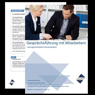 Gesprächsführung mit Mitarbeitern: Lösungsorientierte Kommunikation