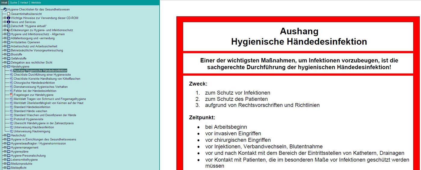 Hygiene-Checklisten für das Gesundheitswesen