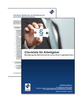 Checkliste für Arbeitgeber zur Beteiligung des Betriebsrats bei personellen Angelegenheiten