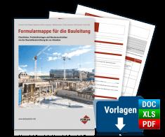 Formularmappe für die Bauleitung