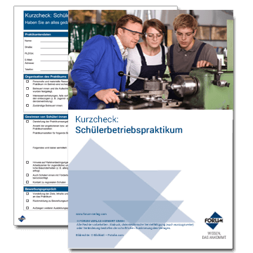 Kurzcheck: Schülerbetriebspraktikum