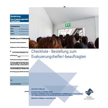 Checkliste Bestellung zum Evakuierungshelfer/-beauftragten