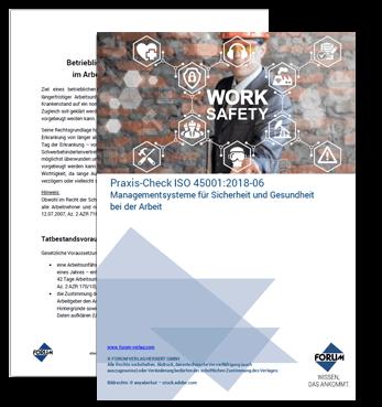 Praxis-Check ISO 45001:2018-06 Managementsysteme für Sicherheit und Gesundheit bei der Arbeit