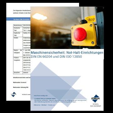 Kostenloser Fachartikel über Not-Halt-Einrichtungen und die DIN EN 60204 und DIN ISO 13850