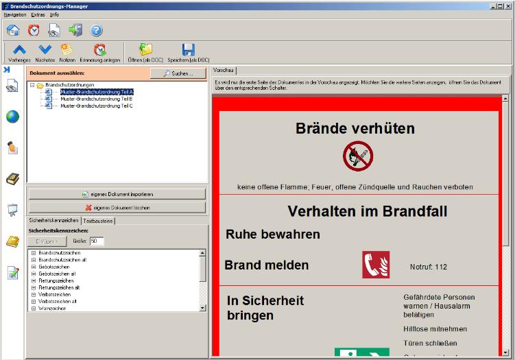 Software zur Erstellung von Brandschutzordnungen