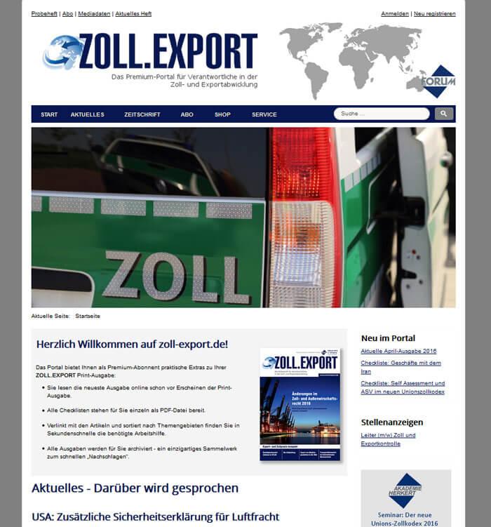 Portal-der-Zoll-Export