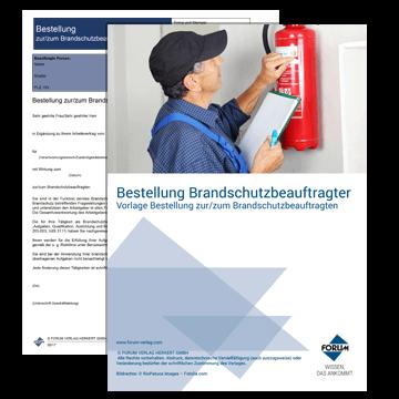Kostenlose Vorlage - Bestellung zur/zum Brandschutzbeauftragten