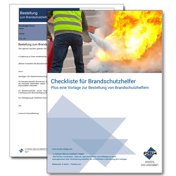 Checkliste für Brandschutzhelfer