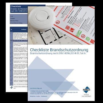 Kostenlose Checkliste - Brandschutzordnung nach DIN 14096:2015-05 Teil A
