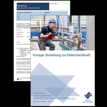 Gratis Vorlage: Bestellung zur Elektrofachkraft