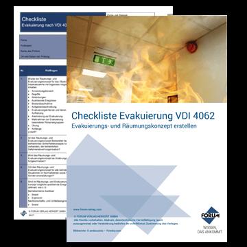 Gratis Checkliste Evakuierung nach VDI 4062