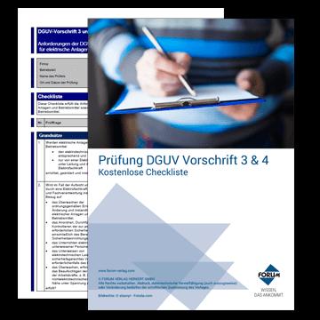 Gratis-Download Prüfung DGUV Vorschrift 3 und 4