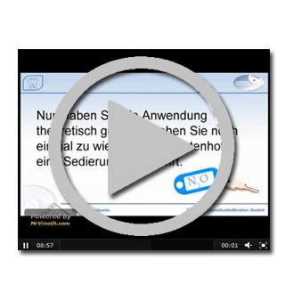 Kostenloses Video über eine Sedierung mit Lachgas