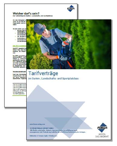 Kostenloser Fachartikel zum Thema Tarifverträge im Garten-, Landschafts- und Sportplatzbau