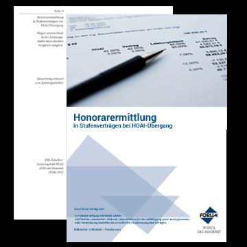 """Gratis Berechnungsbeispiel """"Honorarermittlung bei Stufenverträgen mit HOAI-Übergang"""""""