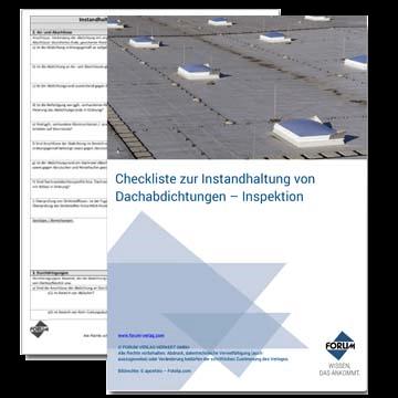 Checkliste zur Instandhaltung von Dachabdichtungen - Inspektion