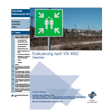 Checkliste: Evakuierung nach VDI 4062