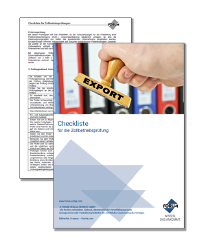 Gratis Checkliste für die Zollbetriebsprüfung