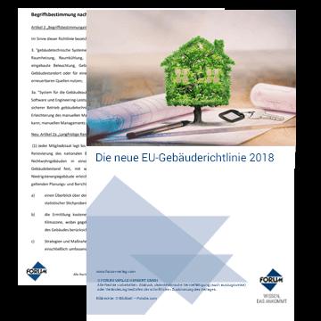 Die neue EU-Gebäuderichtlinie 2018
