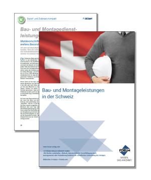 Gratis Fachartikel Bau- und Montagedienstleistungen in der Schweiz