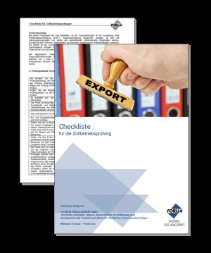 Checkliste für die Zollbetriebsprüfung