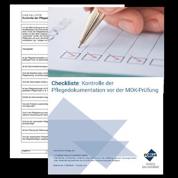 Checkliste zur Kontrolle der Pflegedokumentation vor der MDK-Prüfung