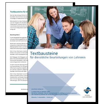 Textbausteine für dienstliche Beurteilungen von Lehrern