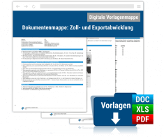 Dokumentenmappe: Zoll und Exportabwicklung