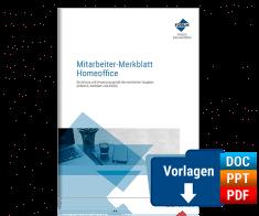 Mitarbeiter-Merkblatt Homeoffice