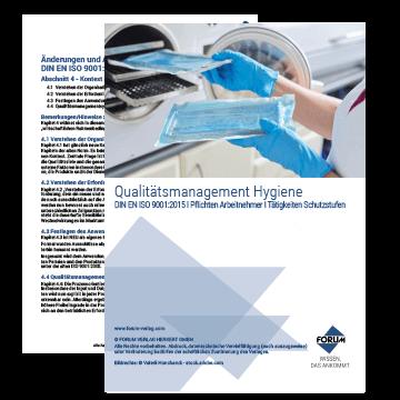 Checklisten und Fachartikel zum Thema Qualitätsmanagement Hygiene