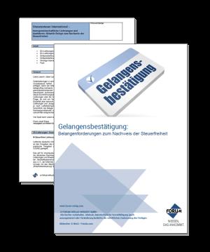 Grundsätze und Nachweispflichten der Steuerfreiheit (z.B. Gelangensbestätigung)