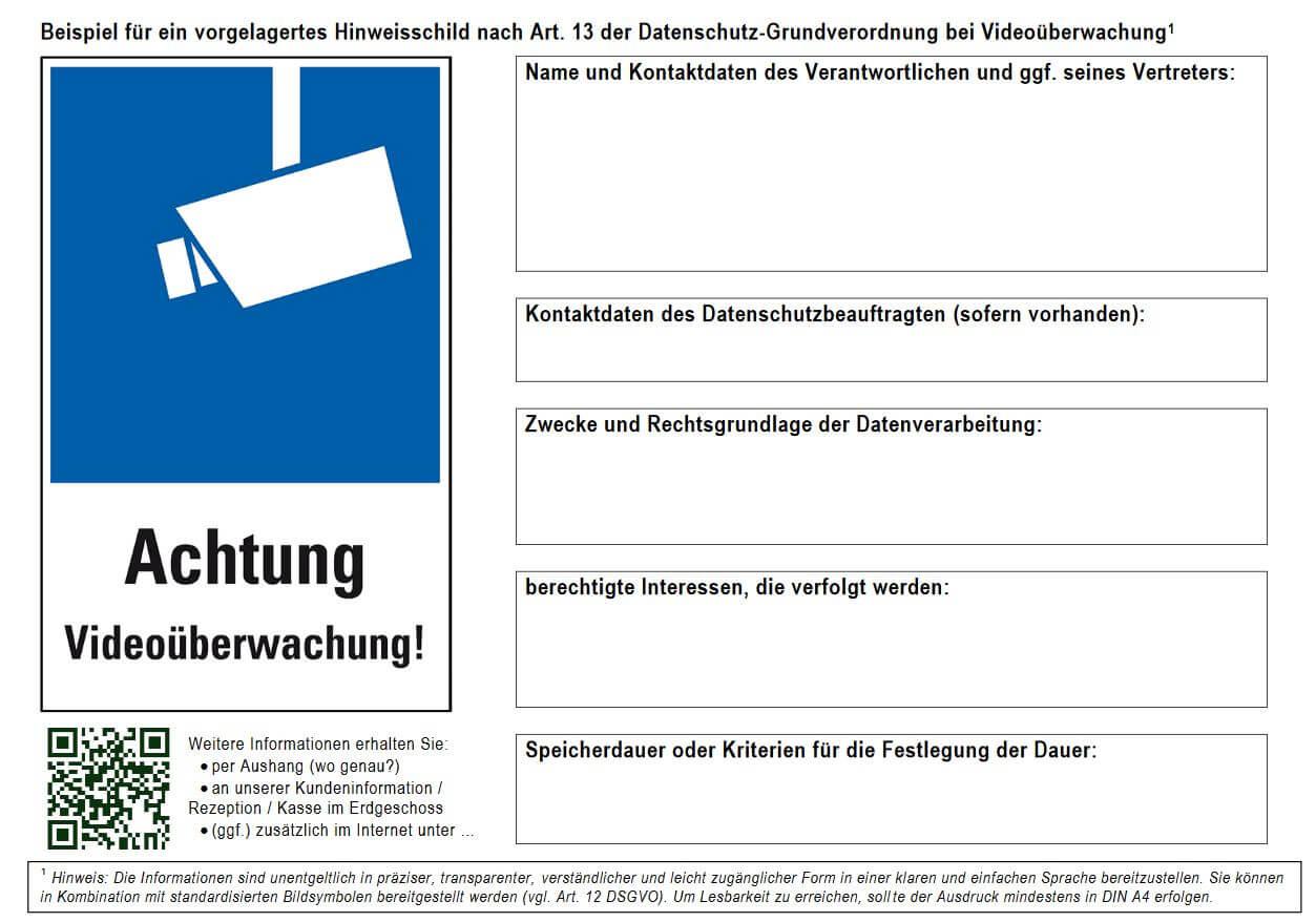 Videoueberwachung-Hinweisschild-Forum-Verlag-Herkert