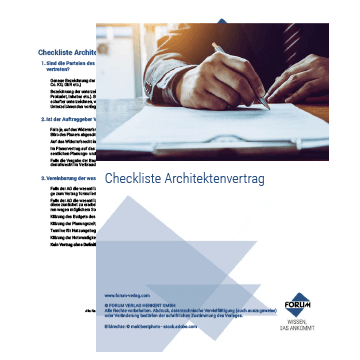 Checkliste Architektenvertrag