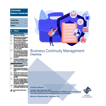 Checkliste Business Continuity Management
