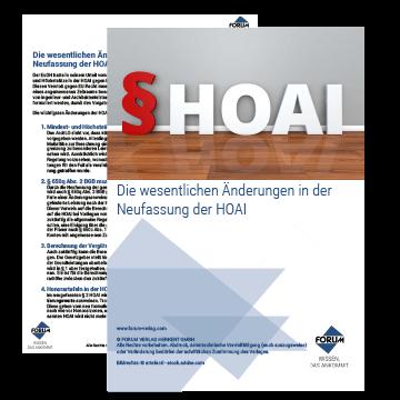 Die wesentlichen Änderungen in der Neufassung der HOAI